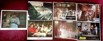 "Lot of 7 misc SCI-FI/Fantasy VINTAGE LOBBY CARDS 11""X14"" EX"