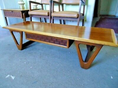 Sale > Vintage Mcm Lane Perception Coffee Table Hairpin Legs Adrian Pearsall Era