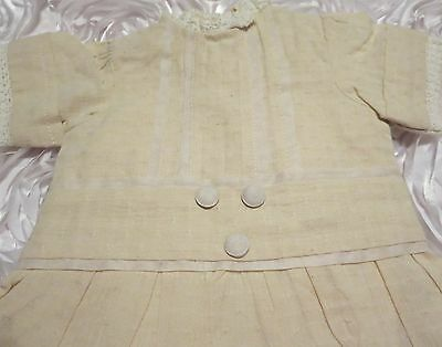 Linen Doll Dress For 21-23 Inch Bru Antique Reproduction French German Dolls