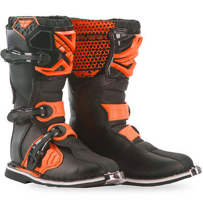 NEW Fly Racing 2017 Mx Youth Maverik Black FLO Orange Kids Motocross Boots