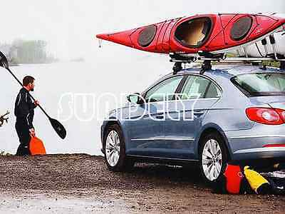 Kayak Carrier Car Roof Rack Universal Double J Bar Pair Includes Straps