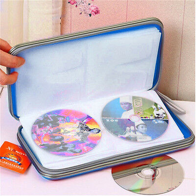 80x Disc CD/VCD/DVD Portable Storage Case Wallet Hard Box Bag Holder F#