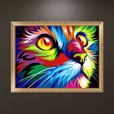 DIY 5D Diamond Lion Animal Painting Embroidery Cross Stitch Crafts Home Decor