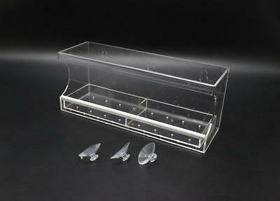 Clear Acrylic Large Window Bird Feeder with Removable Tray & Drain Holes 16045