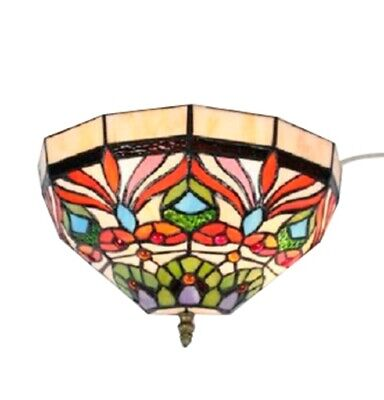 Tiffany Wall Scones Lamp Stained Glass Scones Light Fixture Hall Tiffany Wall
