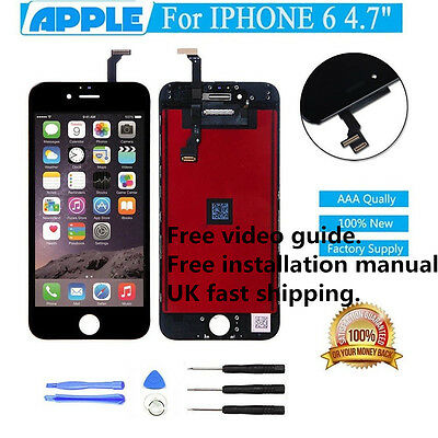 """iPhone 6 4.7"""" Black LCD Screen Replacement Touch Display Digitizer repair New"""