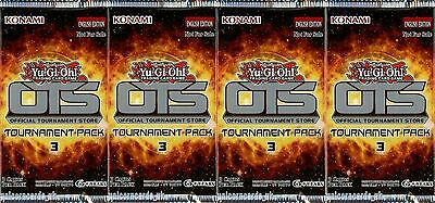 """YuGiOh! """"OTS Tournament Pack 3"""" New And Sealed Booster Packs x4"""