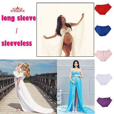 Pregnant Maternity Photography Prop Maternity Maxi Evenning Party Dress Clothes