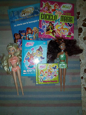 Lotto Winx Club USATO (Bambole + libri + CD audio) Dolls Stella Aisha Books