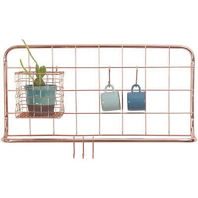 Copper Wire Kitchen Rack - Open Grid