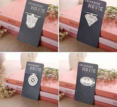 Superhero logo Bookmark Clip Superman Batman Captain America Shield Transformer