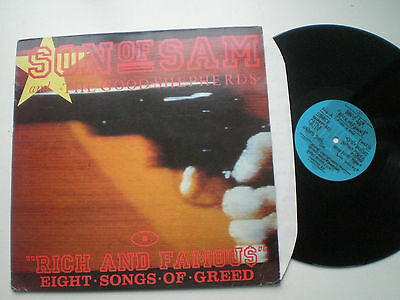 SONS OF SAM & THE GOOD SHEPHERDS Rich & Famous UK LP 1987 Synth Wave Industrial