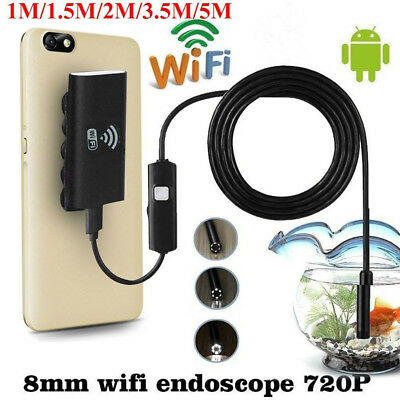 6LED Wifi Endoscope Waterproof Inspection 720P Camera For iPhone Android /IOS DD