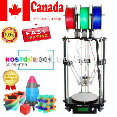 Geeetech Latest Rostock Delta 301 triple-color 3-in-1-out Extruder 3D printer CA