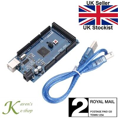 Arduino Mega 2560 R3 ATMega2560-16AU CH340G Compatible Board with USB Cable