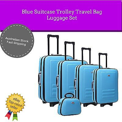 NEW 5pc Suitcase Trolley Travel Bag Hard Case Lock Carry Delegate Luggage Set