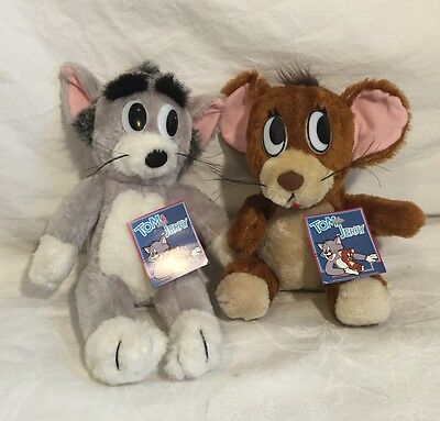 Turner Entertainment TOM & JERRY Plush Toy 1989 NEW Stuffed Animal Collectible