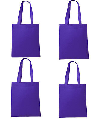 Set of 8 NEW Shopping Bag Folding Reusable Grocery Bags Convenient Tote Purple