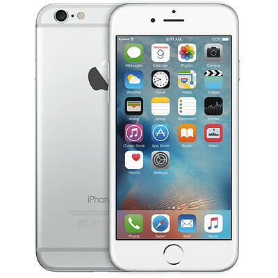 Apple iPhone 6 Plus Silver 5S 16GB 64GB 128GB Factory Unlocked 4G Smartphone