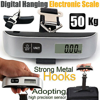 50Kg Portable Hanging Digital Electronic Luggage Scale FAST AND FREE DELIVERY UK