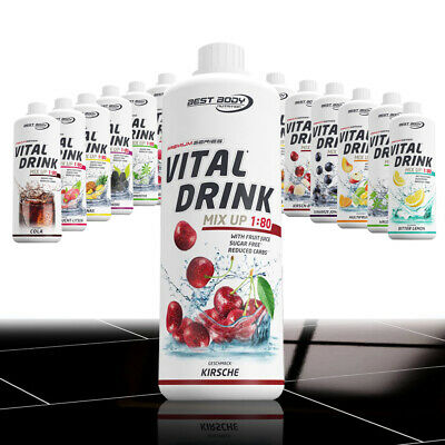 Best Body Low Carb Vital Drink Getränkekonzentrat Sirup 1:80 vegan Konzentrat