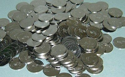 300 $1 Stainless Slot Machine Tokens - Newly Minted Dollar Size - Free Shipping!