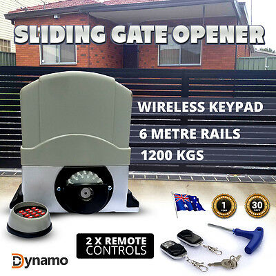 NEW AUTOMATIC Sliding Electric Gate Opener Remotes Full HEAVY DUTY KIT 6 METERS