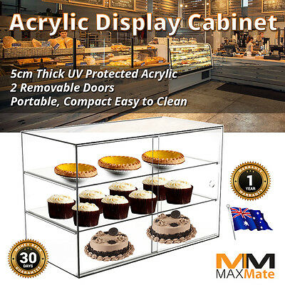 NEW Deluxe Large Display Cake Bakery Pastry Acrylic Display Cabinet UV Stable