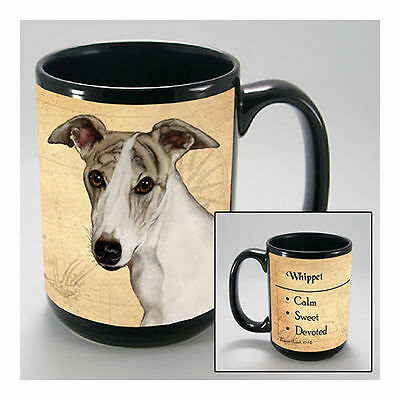 Whippet Faithful Friends Dog Breed 15oz Coffee Mug Cup