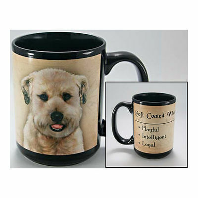 Soft Coated Wheaten Terrier Faithful Friends Dog Breed 15oz Coffee Mug Cup