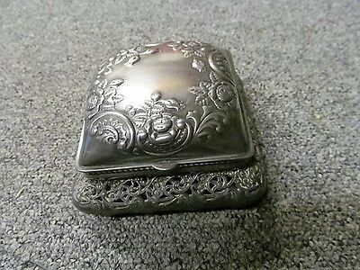 Vintage Wilcox Siler Plated Trinket Box/Jewellery Box