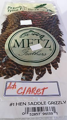 "Metz #1 HEN SADDLE ""LT.CLARET""   FREE SHIPPING worldwide"