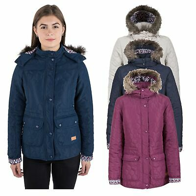Trespass Jenna Womens Casual Parka Jacket Hooded Lightweight Padded Ladies Coat