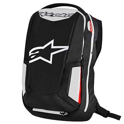 Alpinestars City Hunter Motorcycle Motorbike Riding Rucksack Backpack | White