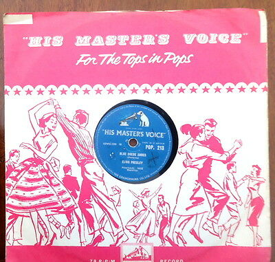 Elvis Presley. 78 RPM Blue Suede Shoes - Tutti Frutti.   c1956.  HMV POP213