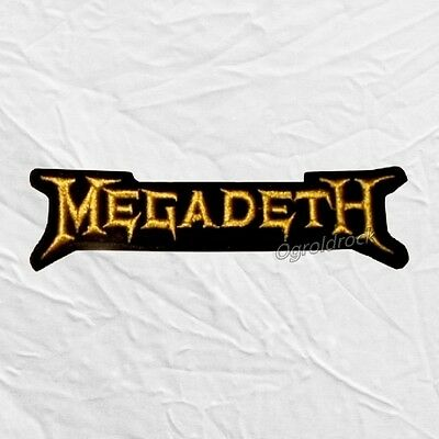 Megadeth Word Logo Embroidered Patch Dave Mustaine Heavy Metal Rock Band