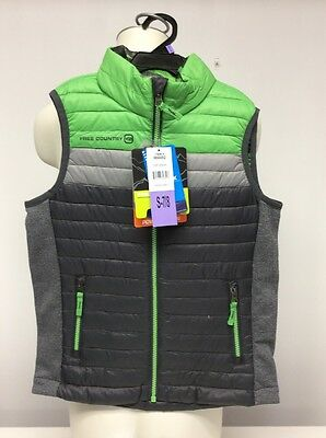 Free Country Power Down Vest Boys Kids Size S-7/8 Pop Green