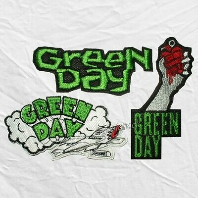 Set Green Day Embroidered Patches Dookie Plane Kerplunk American Idiot Logo