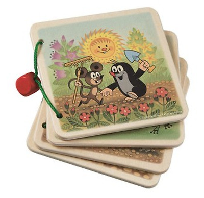 Little Mole in a garden 4 wooden pages picture book for babies 1+ by Detoa 13899