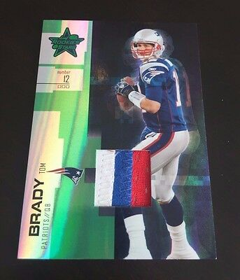 TOM BRADY Non Auto Patch /25! 3-color #'d 4/25 2007 Leaf Rookies And Stars