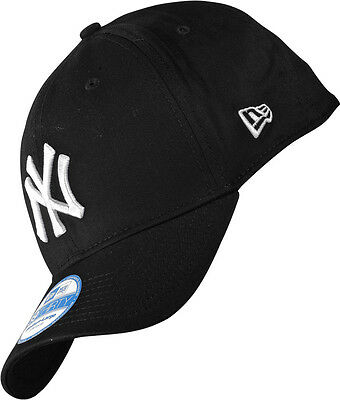 New York Yankees New Era 39Thirty Stretch-Fit Baseball Cap Black/White  M-L