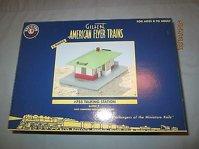 American Flyer by Lionel #6-49812 Talking Station Reissue of #755- New in Box