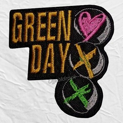 Green Day Oh Love Logo Embroidered Patch Rock Band Billie Joe Armstrong Album