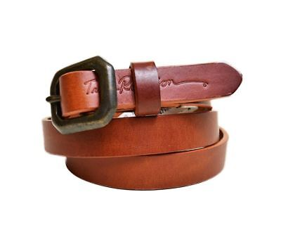 True Religion Womens Basic Thin Brown Leather Belt Size Small Womens Msrp 78