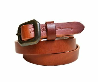 True Religion Womens Basic Thin Brown Leather Belt Size X-Small Womens Msrp 78