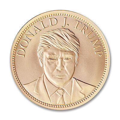 2 Donald Trump coins,One pure 1 oz .999 Silver coin and an AMAZING 2 oz Copper