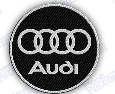 AUDI   iron on embroidery patch 3.0 x 3.0 EMBROIDERED PATCHES Gift Car Auto