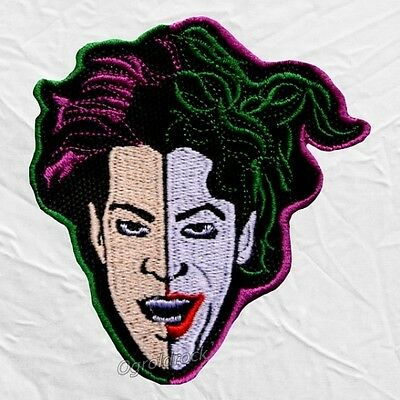 Prince Joker Face Embroidered Patch Rogers Nelson Purple Rain Pop Rock Love Sign