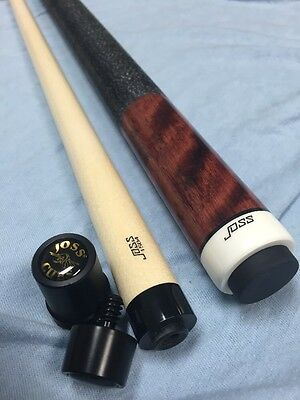 Joss Brown Stained Curly Maple Cue With Genuine Joss Joint Protectors