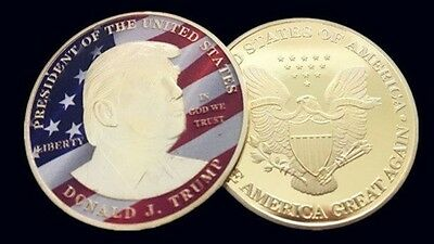 Donald Trump Gold Eagle Coin Make America GREAT Again 45th President